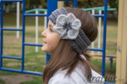 Easy Headband with Flower