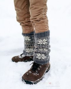 Fair Isle Leg Warmer