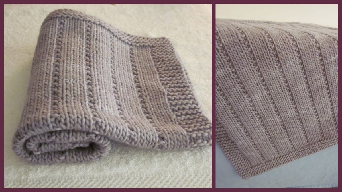 Knitting Patterns Galore - Newborn Baby Blanket
