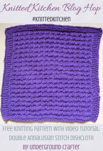 Double Andalusian Stitch Dishcloth