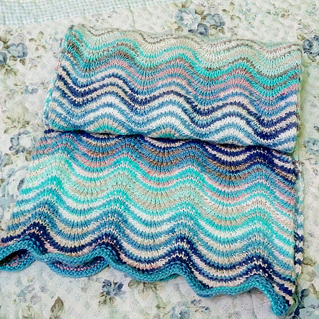 Knitting Patterns Galore - The Ripple Scarf