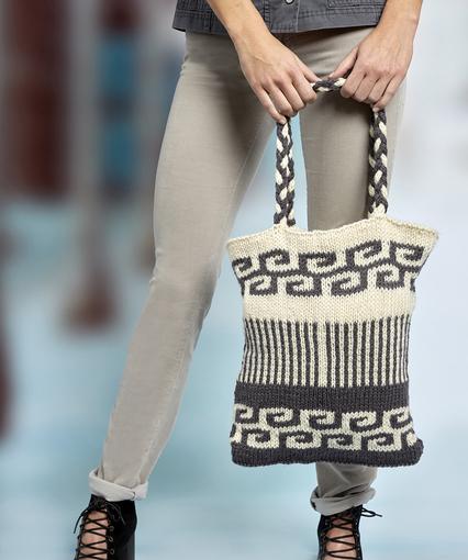 Knitting Patterns Galore Swirls And Stripes Mosaic Bag