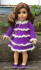 American Girl Doll Mohair Glamour Dress