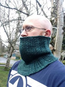 Twisted Stitch Columns Cowl
