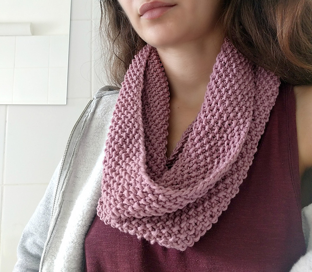 Knitting Patterns Galore - Beginner Basic Seed Cowl