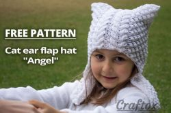 "Cat Ear Hat ""Angel"""