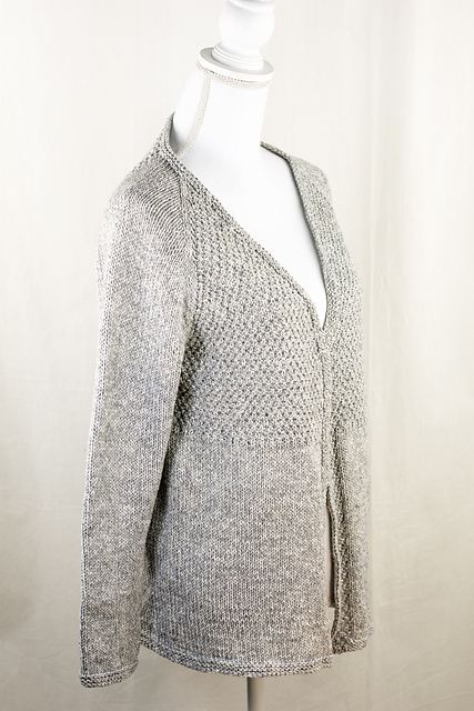 Knitting Patterns Galore Textured Top Down Cardigan