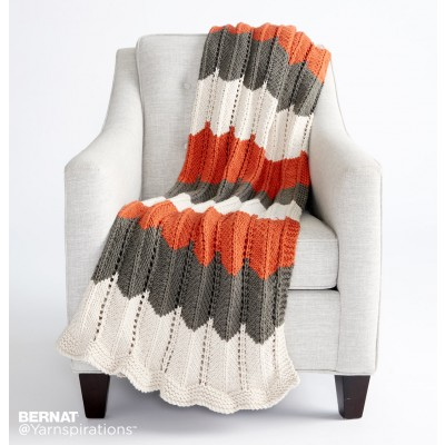 Knitting Patterns Galore - Ripple and Ridge Knit Blanket