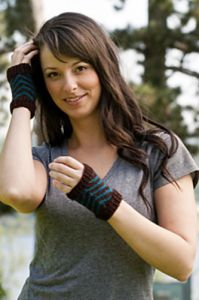 Chevron Mitts