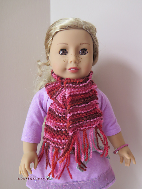 Knitting Patterns Galore A Simple Doll Scarf