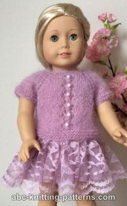 American Girl Doll Tuileries Garden Sweater