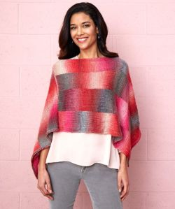 Bargello Knit Poncho