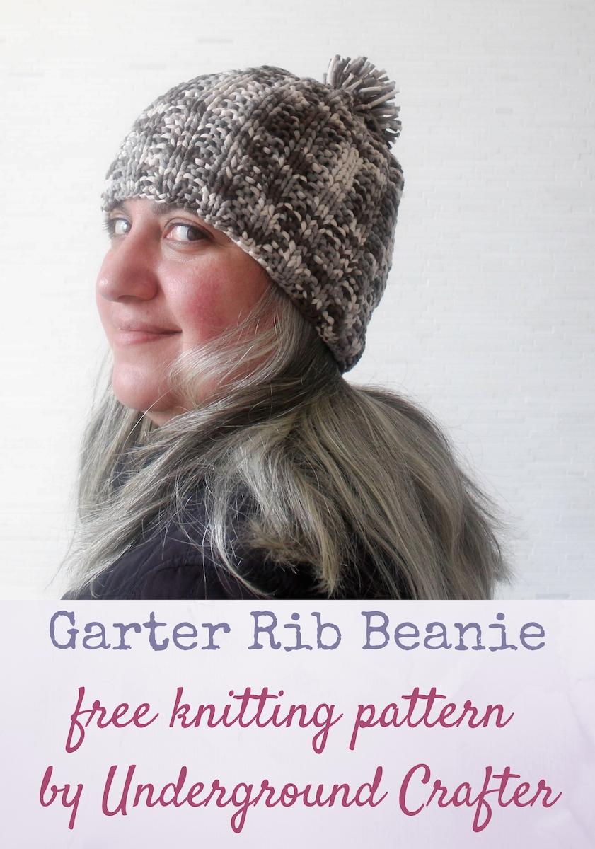 Knitting Patterns Galore - Garter Rib Beanie