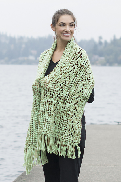 Knitting Patterns Galore - Lacy Comfort Prayer Shawl