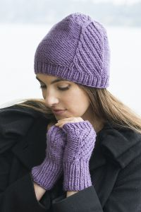 Birch Creek Fingerless Mitts and Hat