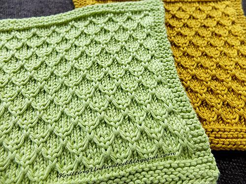 Knitting Patterns Galore Mock Honeycomb Dishcloth