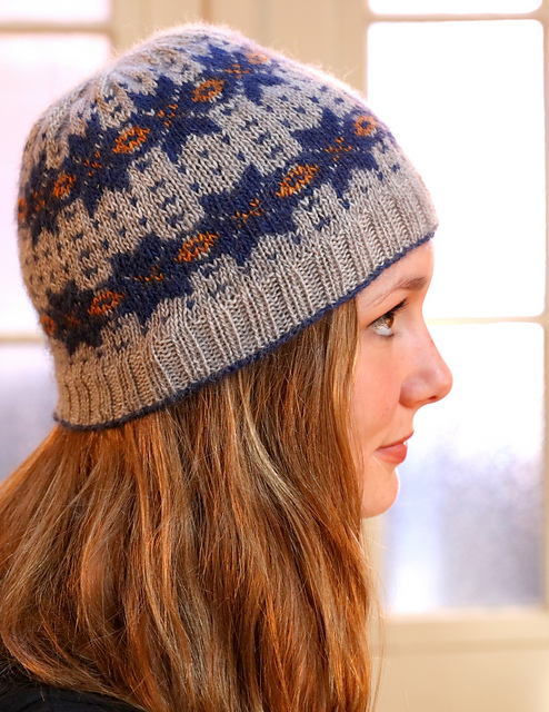Knitting Patterns Galore Hats : Knitting Patterns Galore - Fairisle Hat