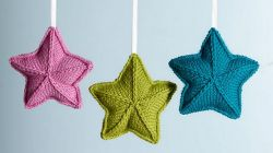 How to Knit Star Ornaments