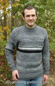 Men's Top Down Raglan Sweater