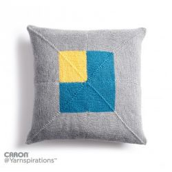 Crazy Corners Knit Pillow