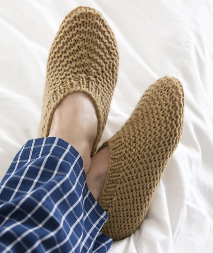 Knitting Patterns Galore Slippers For Him