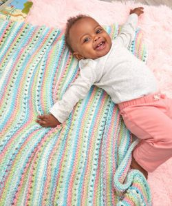 Self-Striping Baby Blanket