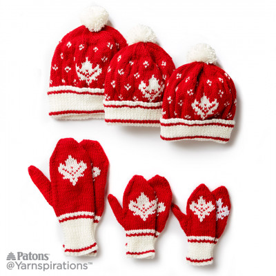 Knitting Patterns Galore Canada Knit Toque And Mittens