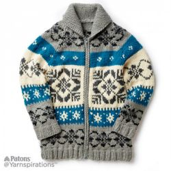 Nordic Stag Knit Jacket