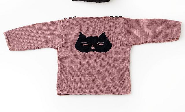 Knitting Patterns Galore - Cat Sweater