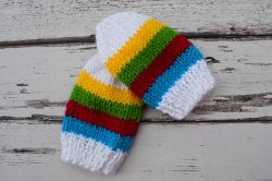 Rainbow Stripes Baby Mittens
