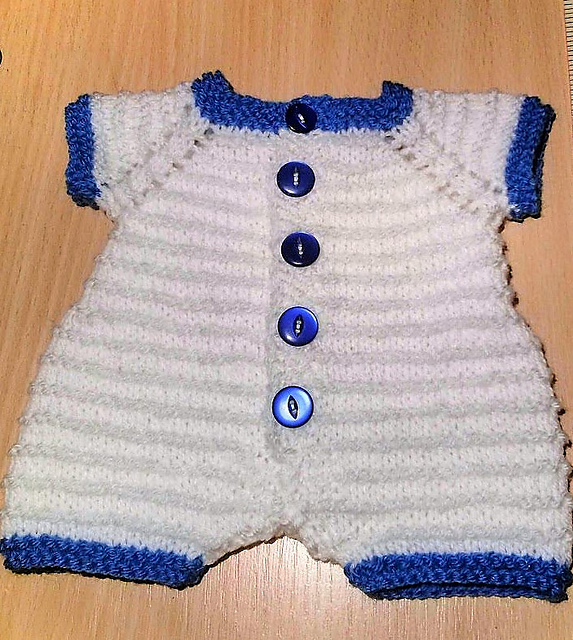 Knitting Patterns Galore - Kinzie Baby Romper