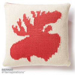 Very Amooseing Knit Pillow