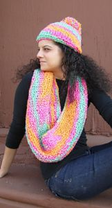 Encore Boucle Hat and Scarf