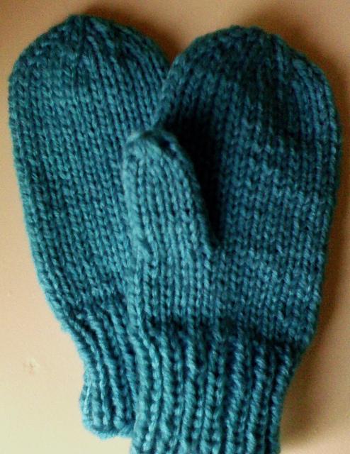Knitting Patterns Galore Kids Flat Thumb Mittens