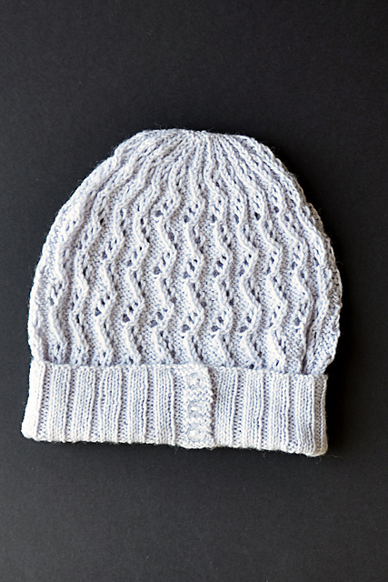 Knitting Patterns Galore Hats : Knitting Patterns Galore - Zig Zag Lace Hat