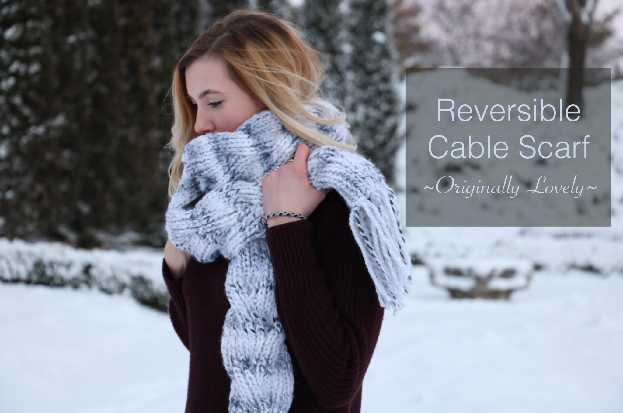 Knitting Patterns Galore - Reversible Cable Scarf