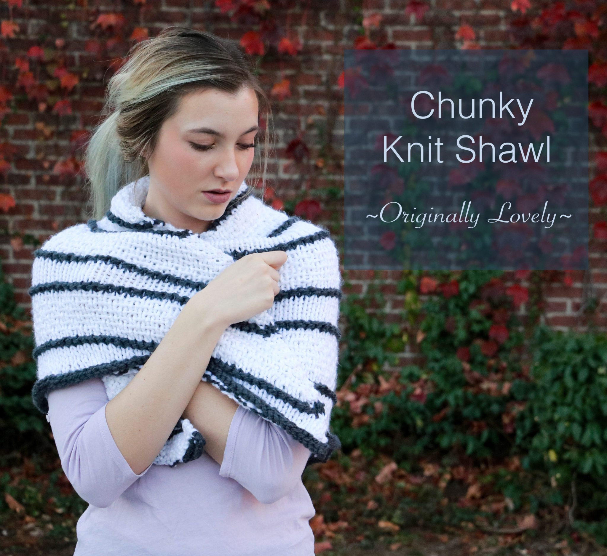 Knitting Patterns Galore - Chunky Shawl