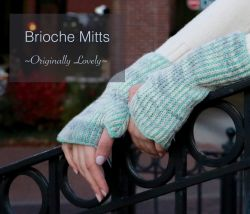 Fingerless Brioche Mitts