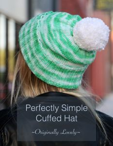 Perfectly Simple Cuffed Hat