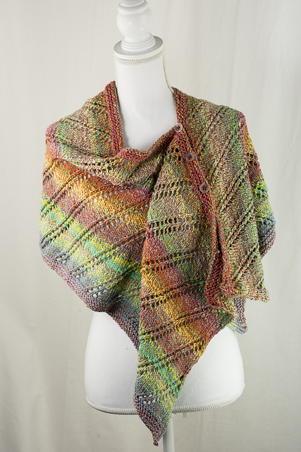 Knitting Patterns Galore Rainbow Wrap