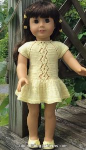 American Girl Doll Lace Cable Summer Dress