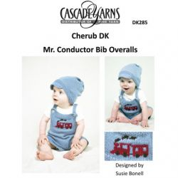Mr. Conductor Bib Overalls Set