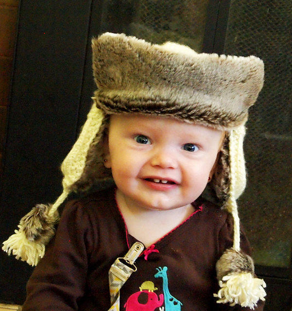 Knitting Patterns Galore Baby Trapper Hat