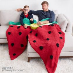 Watermelon Wedge Knit Snuggle Sack