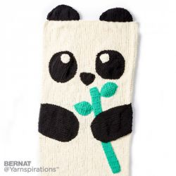 Knit Panda Bear Snuggle Sack