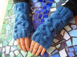 Flat Knit Fingerless Mitts