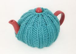 Easy Quick-Knit One-Skein Tea Cozy