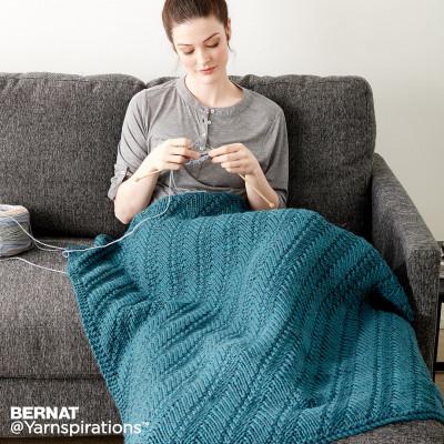 Knitting Patterns Galore - Reversible Knit Lap Blanket