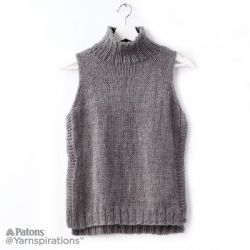 Sleeveless Knit Turtleneck