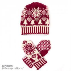Northern Fair Isle Knit Hat and Mittens